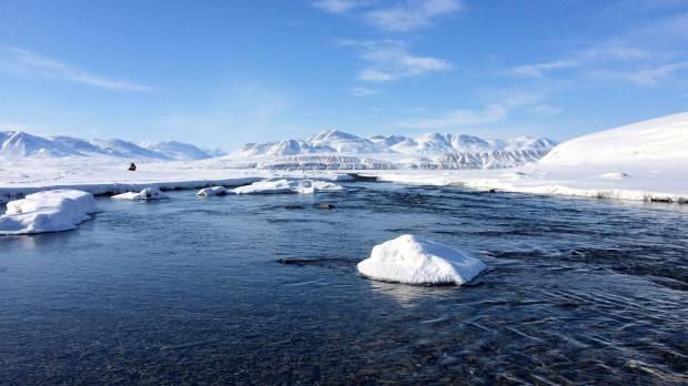 Lake Hazen on Ellesmere Island in Nunavut