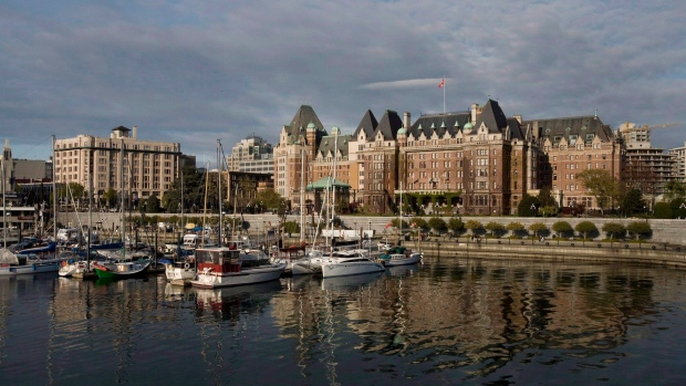 The Fairmont Empress hotel in Victoria, B.C.