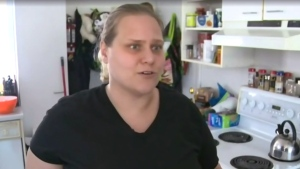 Brittany Bergwall is wondering why it took so long for Brandon Police to respond to her 911 calls for help. (Josh Crabb/CTV News)