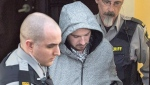 Nicholas Butcher arrives at provincial court in Halifax on Tuesday, April 12, 2016. (THE CANADIAN PRESS/Andrew Vaughan)