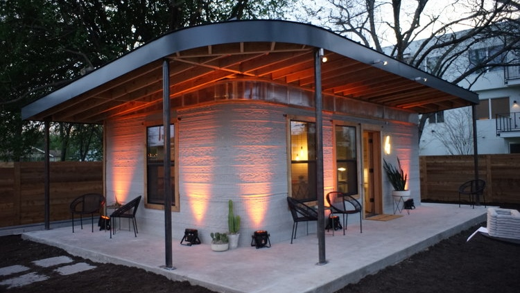 Icon 3D-printed home