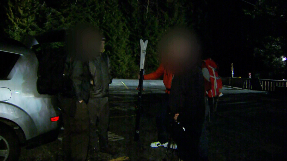 Two hikers who work for National Defence had to be rescued after getting lost on Mount Fromme on Monday.