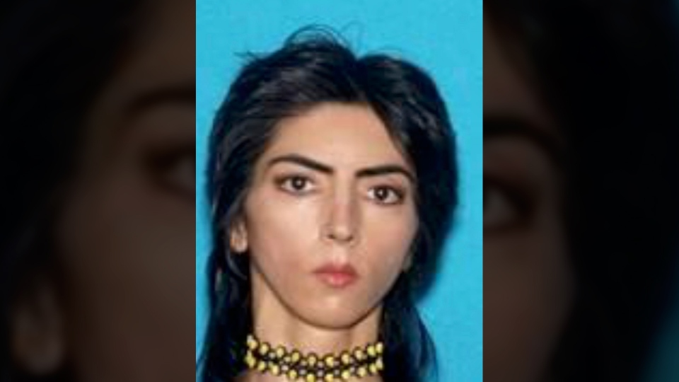 This undated photo provided by the San Bruno Police Department shows Nasim Aghdam. (Courtesy of San Bruno Police Department via AP)