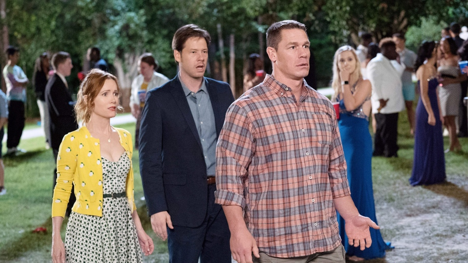 BLOCKERS, from left: Leslie Mann, Ike Barinholtz, John Cena, 2018. ph: Quantrell D. Colbert /© Universal Pictures /Courtesy Everett Collection
