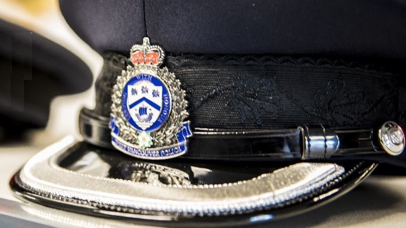A West Vancouver Police Department cap is shown in this 2018 image.