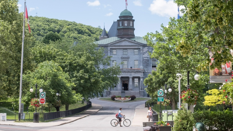 McGill University campus is seen Tuesday, June 21, 2016 in Montreal. THE CANADIAN PRESS/Paul Chiasson