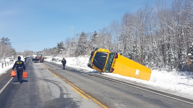 Hwy. 141 school bus crash
