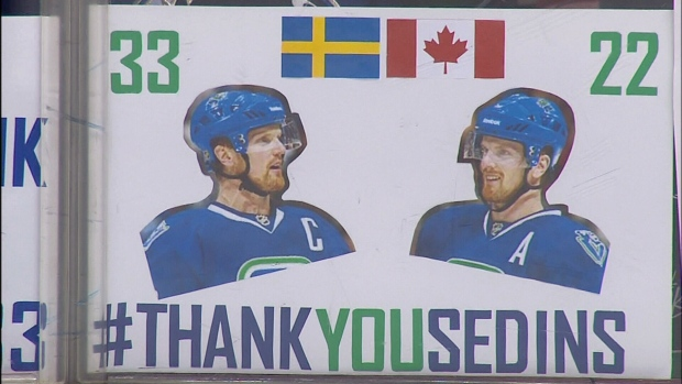 843db84b1 Sedins  swansong  Canucks fans pack Rogers Arena for twins  last home game