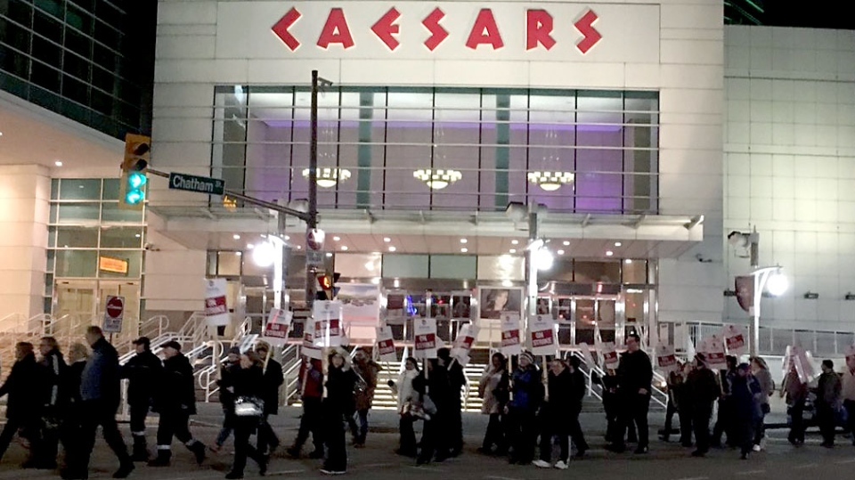 Caesars Windsor employees rejected a tentative agreement late April 5, 2018. (CTV News Windsor/Chris Campbell)