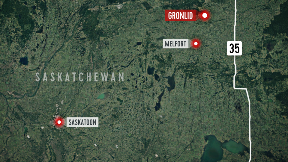 The crash occurred on Highway 335 near Gronlid, Sask., north of Melfort.