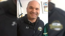 The head coach of the Humboldt Broncos hockey team Darcy Haugan, is among 14 dead following a bus crash in Saskatchewan his sister has posted on Twitter. (DebbieJayneC / Twitter)