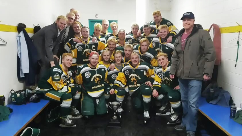 The Humboldt Broncos are seen in this team picture.