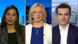 MPs Ruby Sahota, Lisa Raitt at Matthew Dube on CTV's Question Period. (CTV News)