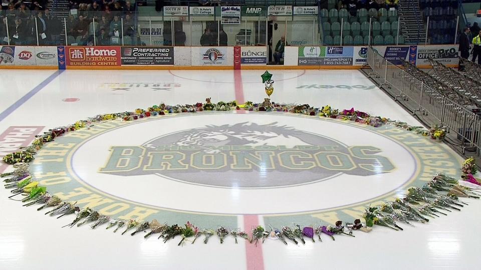 Vigil held in memory of Humboldt Broncos