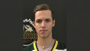 Xavier Labelle, an 18-year-old from Saskatoon, was released from hospital on Wednesday, June 6, 2018, two months after the fatal Saskatchewan bus crash that killed 16 and injured 13 others.