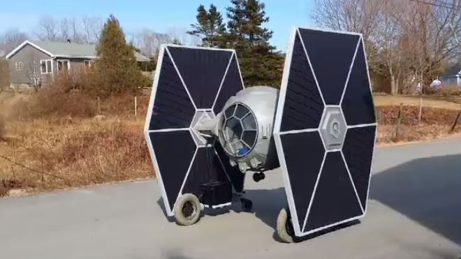 If you've sensed a disturbance in 'the force,' it's coming from a seaside community just outside of Halifax, where a backyard inventor has created something out of this world.