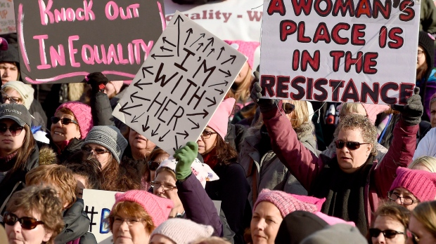 Women's march for equality in New York