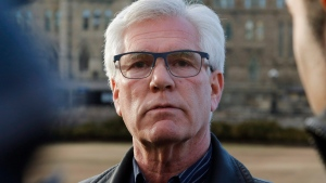 Minister of Natural Resources Jim Carr speaks about the recent status of the Kinder Morgan pipeline expansion in Ottawa on Sunday, April 8, 2018. THE CANADIAN PRESS/ Patrick Doyle