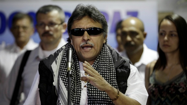Former Colombian rebels blame US for leader's arrest