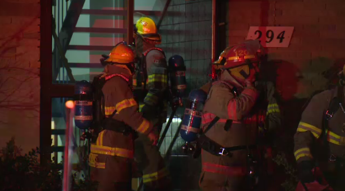 Officials say one man was taken to hospital with non-life threatening injuries following a grease fire in a Kitchener apartment building.