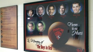A memorial to the 'Boys in Red' at Bathurst High S