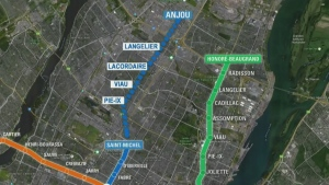 The Blue line extension to Montreal's metro system will create five new stops at an estimated cost of $3.9 billion