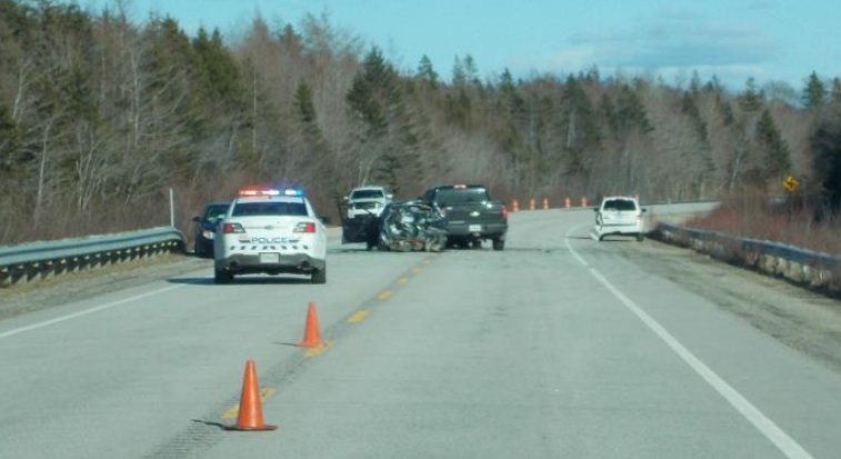 Highway 103 was closed for investigation and officers were on the scene until 6:30 p.m.
