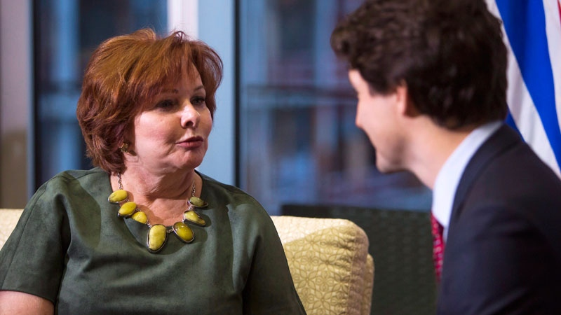 Prime Minister Justin Trudeau meets with Surrey Mayor Linda Hepner at Surrey's City Hall in Surrey, B.C., on Monday March 1, 2016. THE CANADIAN PRESS/Ben Nelms