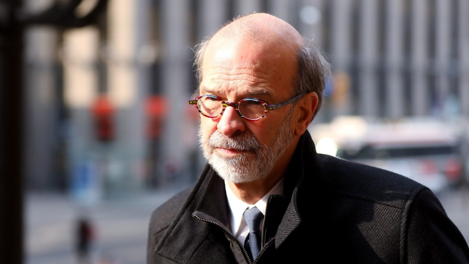 Ex-political aide David Livingston arrives for sentencing at Ontario court in Toronto on Wednesday, April 11, 2018. The chief of staff to former premier Dalton McGuinty was convicted for the destruction of emails related to the costly cancellation of two gas plants in 2011. (THE CANADIAN PRESS/Colin Perkel)