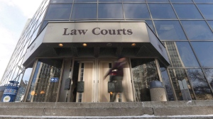 The streets near the Law Courts are expected to be closed from 7 a.m. to 1 p.m. Sunday. (THE CANADIAN PRESS/John Woods)