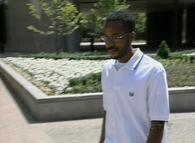 Rikardo Robinson leaves a University Avenue courthouse on Tuesday, July 3, 2007.