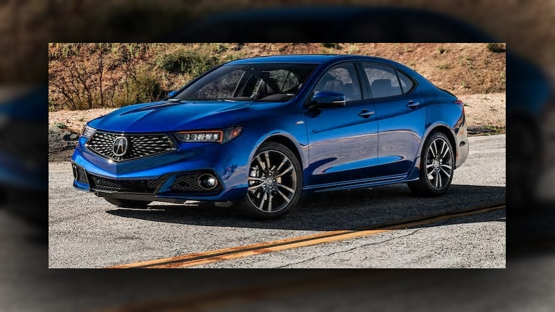 RCMP released a stock image of a blue 2018 Acura TLX. Supplied.