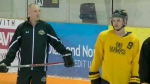 Hawks hit the ice joined by Bronco assistant coach