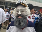 CTV News captured moments from the first ever Winnipeg Whiteout Street Party for home playoff games. (Beth Macdonell/CTV News)