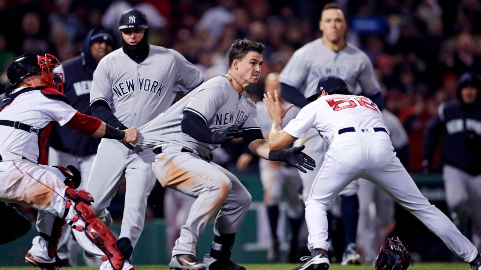 MLB scores: Bench-clearing brawl breaks out at Yankees-Red Sox game