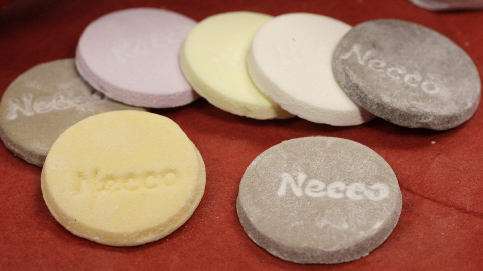 Necco Wafers on display in Boston, on Oct. 14, 2009. (Charles Krupa / AP)