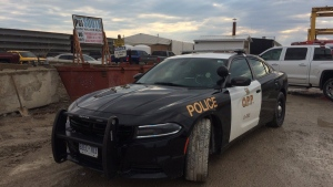 OPP were called to Prestressed Systems Inc. at 5058 Walker Rd in Tecumseh, Ont., on Thursday, April 12, 2018. (Michelle Maluske / CTV Windsor)
