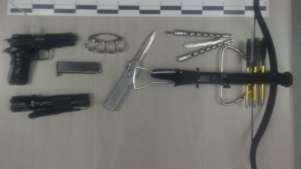 weapons seized in Fredericton