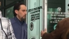 Michael Hiller leaves court in Windsor, Ont., on Wednesday, April 4, 2018. (Sacha Long / CTV Windsor)