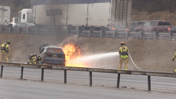 Vehicle fire on Hwy. 400