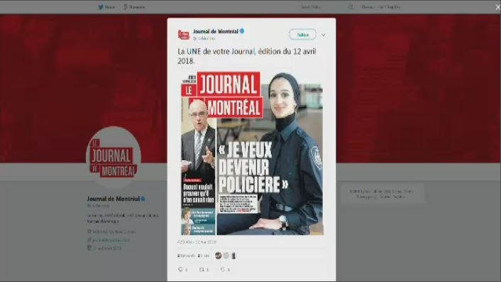 Journal de Montreal hijab April 12