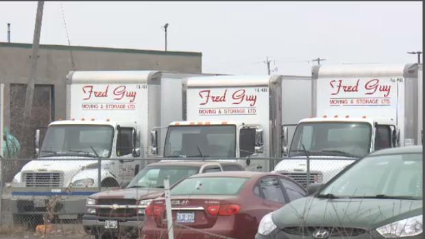 Trucks sit at Fred Guy's Ottawa lot