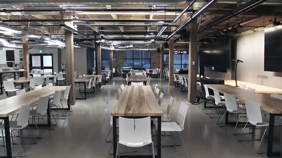Thalmic Labs has opened a new workspace in a former furniture store in downtown Kitchener.