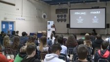 MADD Canada presenting to students in Regina.