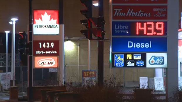 Montreal gas prices