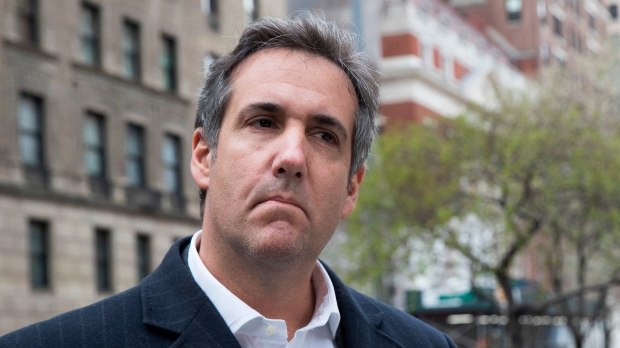 This Wednesday, April 11, 2018 file photo shows attorney Michael Cohen in New York. (AP Photo/Mary Altaffer)