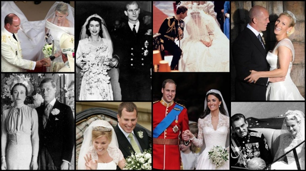 Prince Rainier III and Grace Kelly in 1956 to Prince Albert of Monaco and Charlene Wittstock in 2011, here's a look back at some iconic royal weddings.