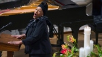 Opera singer Jessye Norman sings during a memorial service for former South African President Nelson Mandela at the National Cathedral in Washington on December 11, 2013. (THE CANADIAN PRESS/AP/Cliff Owen)