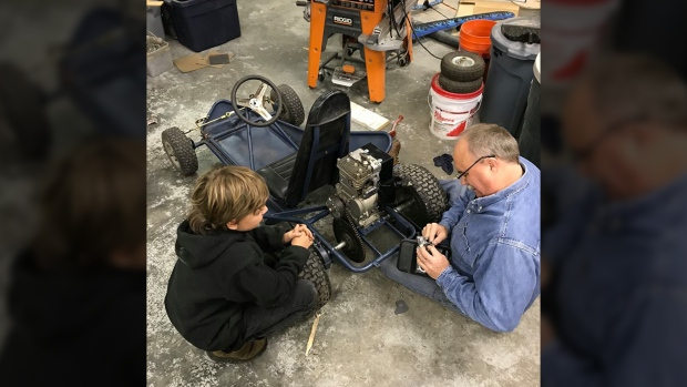 Boy and grandfather 39 s homemade go kart stolen in for Go kart interieur montreal