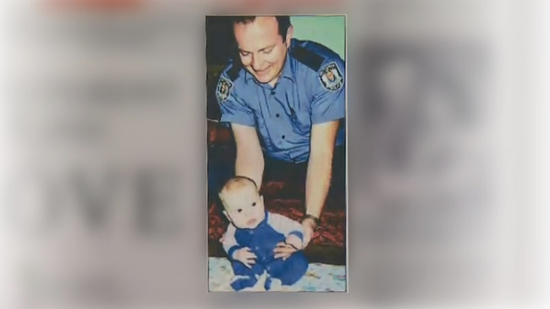 Cst. Ian Jordan with his son, Mark, in this undated photo.